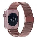 Браслет BeWatch для Apple Watch series 3 | 4 | 5 | 6 с шириной корпуса 38 | 40 мм Ремешок миланская петля Rose, фото 4