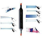 Набір скетч-маркерів Touch sketchmarker 120 шт. (TOUCH120-BL)   Набір скетч-маркерів Touch sketchmarker, фото 3