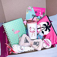 "Подарочный бокс для девочки девушки WOW BOXES ""Flamingo Box #5"""