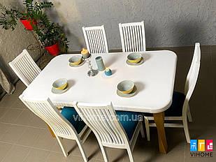 Обідній комплект: стіл Торнадо і стільці Сандра M-mebel™