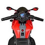 Дитячий електро мотоцикл на акумуляторі BMW M 4080 для дітей 3-8 років червоний, фото 4