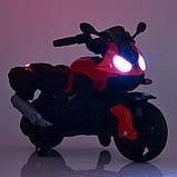 Дитячий електро мотоцикл на акумуляторі BMW M 4080 для дітей 3-8 років червоний, фото 5