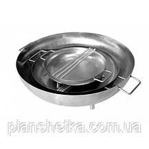 Сковорода з харчової нержавійки 600 мм, фото 3