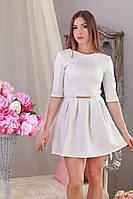 Шикарное молодежное короткое платье из экокожи, жаккард-дизайн