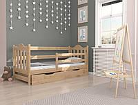 """Кровать детская подростковая """"Аврора"""" 80*190 деревянная массив бук, фото 1"""