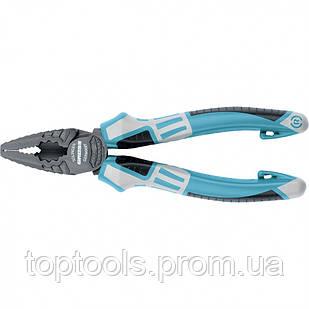 Плоскогубці комбіновані 165 мм, трикомпонентні рукоятки, GROSS
