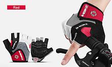Летние велоперчатки INBIKE без пальцев c гелевыми вставками