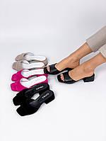 Шлёпки на удобном каблуке