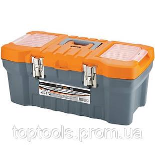 """Ящик для інструменту з металевими замками 22 х 26 х 51 см (20 """"),  Stels"""