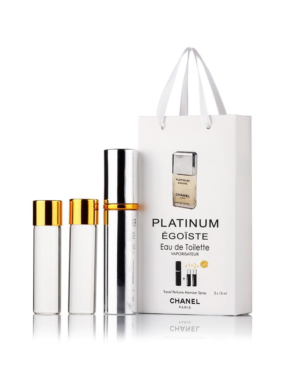 CHANEL Egoiste Platinum Pour HommeMen (3*15ml)