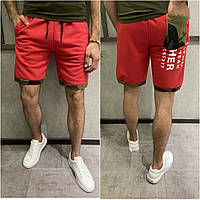 Мужские хлопковые шорты красного цвета (красные) Турция