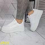 Криперы кроссовки на высокой массивной платформе белые 37, 38 р. (2523), фото 2