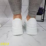 Криперы кроссовки на высокой массивной платформе белые 37, 38 р. (2523), фото 6