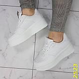 Криперы кроссовки на высокой массивной платформе белые 37, 38 р. (2523), фото 8