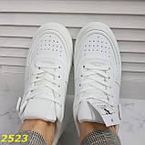 Криперы кроссовки на высокой массивной платформе белые 37, 38 р. (2523), фото 5