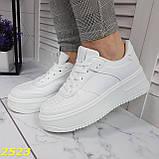 Криперы кроссовки на высокой массивной платформе белые 37, 38 р. (2523), фото 7