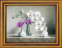 """Схема для вышивания бисером на атласе """"Изысканные орхидеи"""" АЕ-359"""