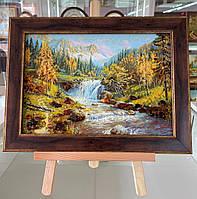 Картина с янтаря, пейзаж, багет, 20х30см