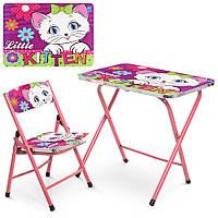 Детский столик A19-KITTEN со стульчиком, кошка