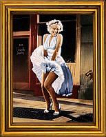 """Схема для вышивания бисером на атласе """"Знаменитое платье Мэрилин"""" АЕ-372"""
