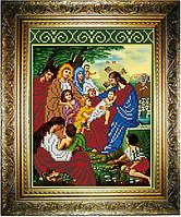 """Схема для вышивания бисером на атласе """"Благословление детей"""" (ИС-524)"""