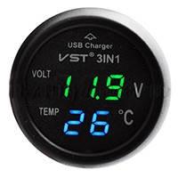 CHARGER зарядка в прикуриватель  USB  вольтметр температура в салоне