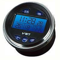 Часы автомобильные с датчиком температуры вольтметр 12в