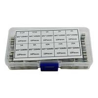 100x Предохранитель стеклянный М5х20мм, 0.5-30А, набор, 102306