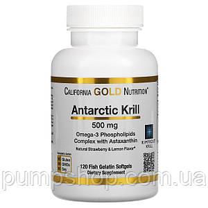 Масло антарктического криля с астаксантином California Gold Nutrition Antarctic Krill 500 мг 120 капс.