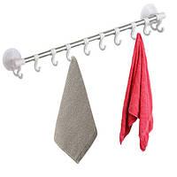 Підвісна вішалка для рушників Hanging Rod Hook Towel SQ1918 № G09-74 Біла