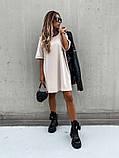 Базовое короткое  платье Размер: S-М и М-L  Цвет -Белый, чёрный, беж, фото 2