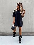 Базовое короткое  платье Размер: S-М и М-L  Цвет -Белый, чёрный, беж, фото 3