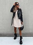 Базовое короткое  платье Размер: S-М и М-L  Цвет -Белый, чёрный, беж, фото 4