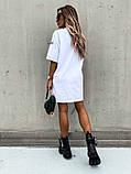 Базовое короткое  платье Размер: S-М и М-L  Цвет -Белый, чёрный, беж, фото 5
