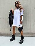 Базовое короткое  платье Размер: S-М и М-L  Цвет -Белый, чёрный, беж, фото 9