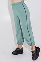 Женские трикотажные штаны-кюлоты с лампасами надписи