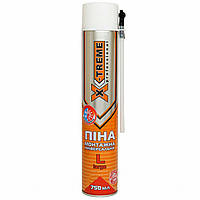 Піна Монтажна Універсальна (Всесезонна) X-TREME Professional L (750 мл) Поліуретанова Ручна 30 л