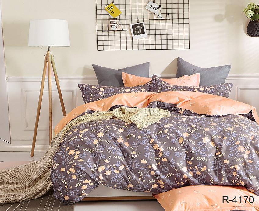 Полуторный комплект постельного белья ранфорс с компаньоном R4170