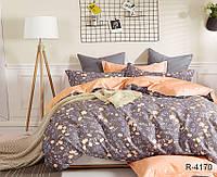 Полуторный комплект постельного белья ранфорс с компаньоном R4170, фото 1