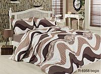 Семейный комплект постельного белья - ренфорс R6958 begie