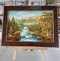 Картина с янтаря, пейзаж, багет, 20х30