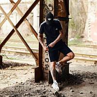 ХИТ ЛЕТА. Мужской летний спортивный костюм Adidas Адидас. Летние шорты+майка Adidas Адидас