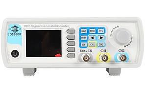 Генератор сигналов двухканальный DDS JUNTEK JDS6600-60M 60МГц