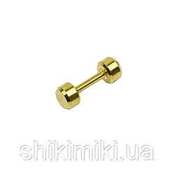 Штанга декоративная SH904-3 (20,5 мм), цвет золото