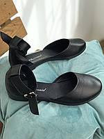 Распродажа! Чёрные женские туфли натуральная кожа. Сезон весна/осень