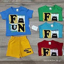 Детский комплект футболка и шорты для мальчика p. 6-18 месяцев