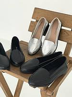Распродажа! Чёрные женские туфли лодочки, мокасины натуральная кожа. Сезон весна/осень