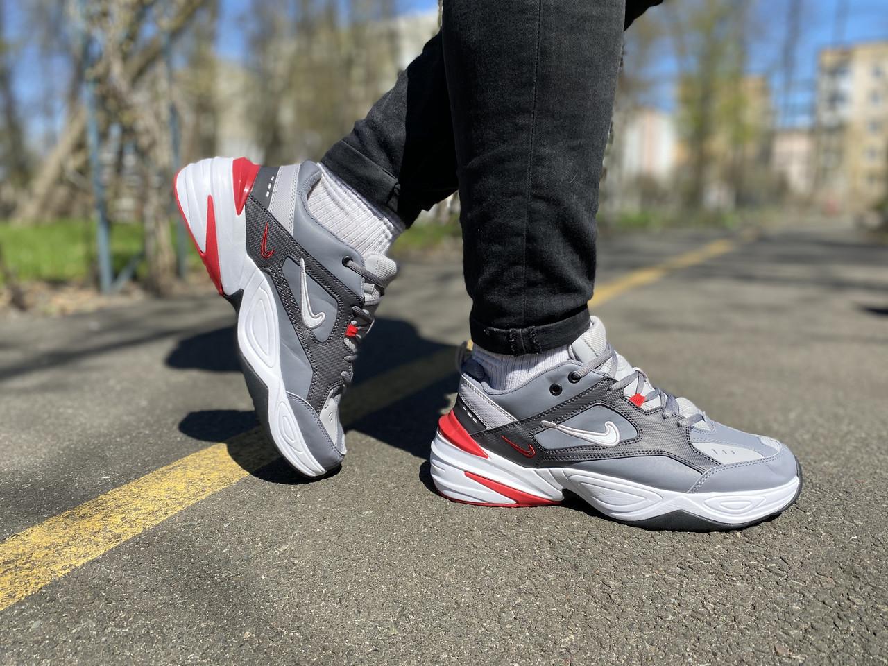 Кросівки чоловічі натуральна шкіра Nike M2K Tekno Найк М2К Техно