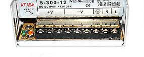Блок питания Ataba S-300-12 12V 25A, фото 2