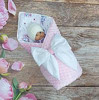 """Конверт-одеяло на выписку """"Минки""""со съемным синтепоном, демисезонный конверт на выписку"""